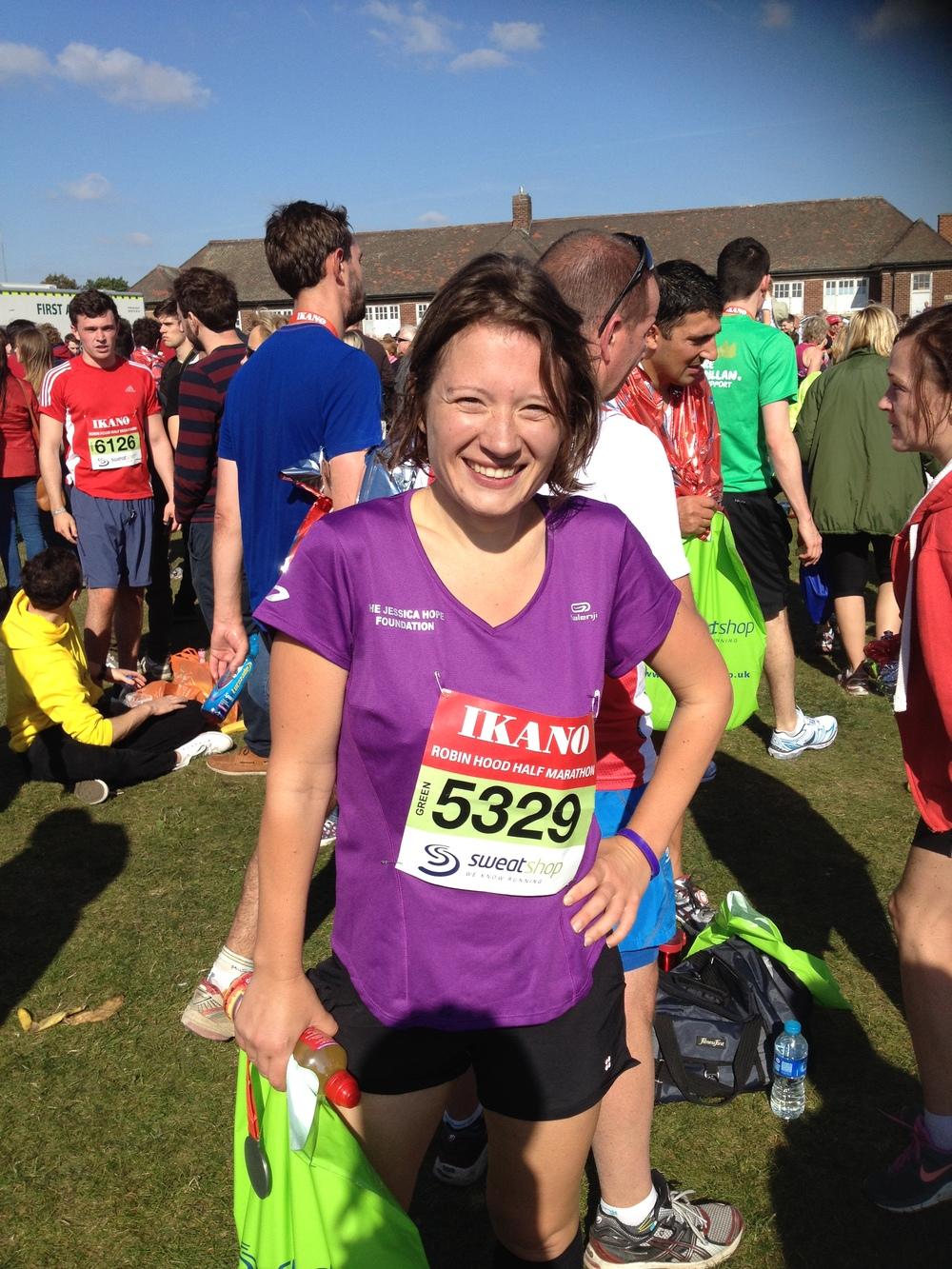 Caroline in her foundation running tee