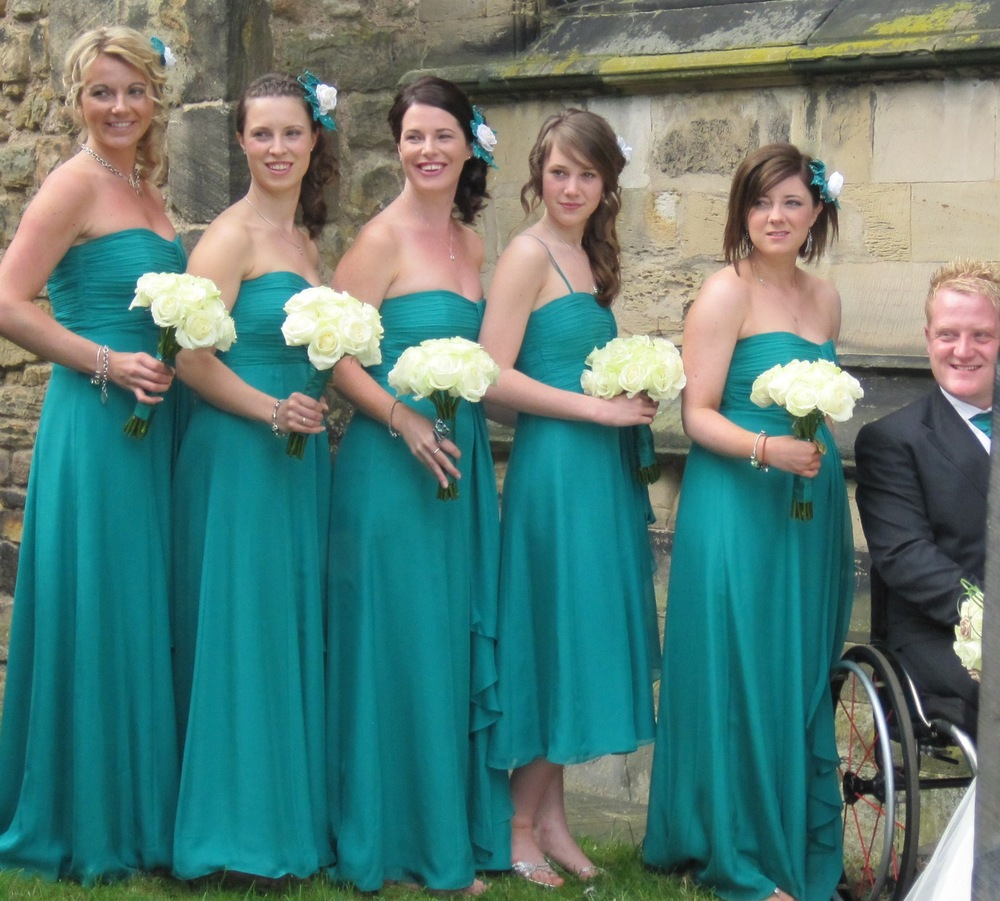 Jess aged 14 as Bridesmaid to Jess and Will in April 2011.
