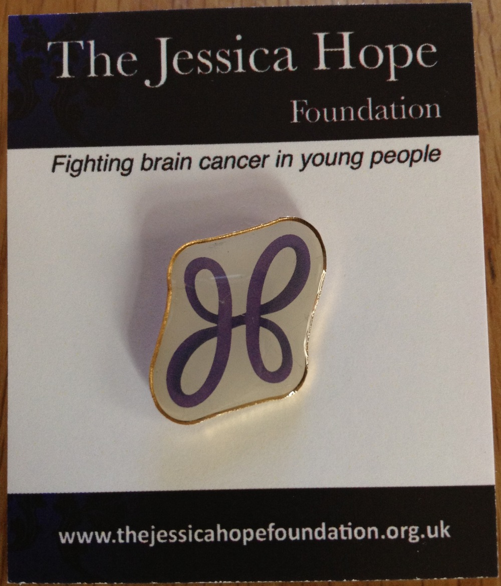 Our The JHF pin badge. Designed by Jess's cousin Alex Crabtree and supplied by Badgemaster of Nottingham   £1.50