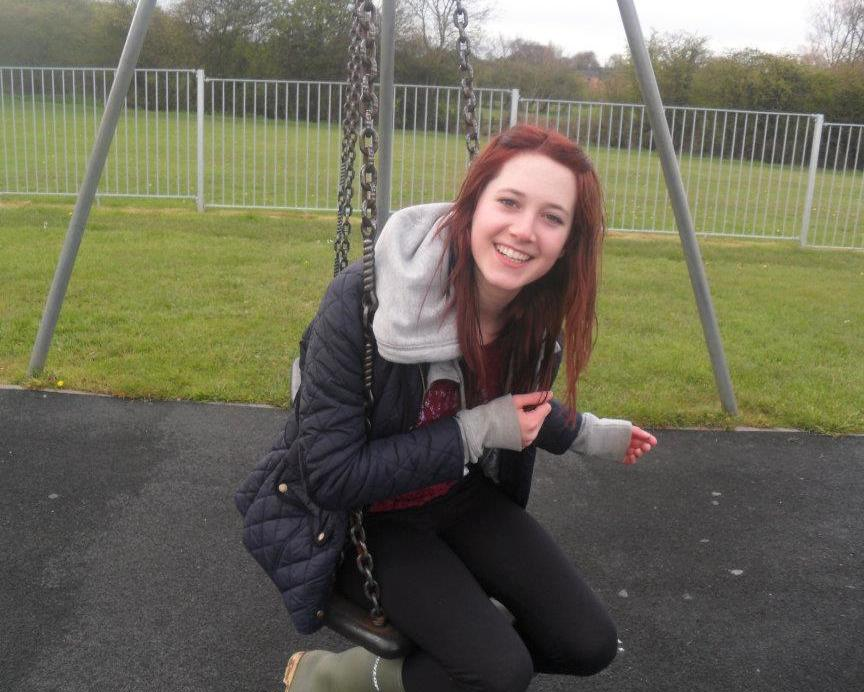 Jess in early April 2012 only a few weeks before the devastating diagnosis - aged 15