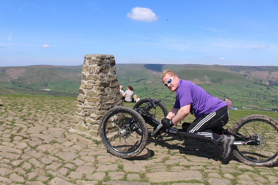 Will at the summit of Mam Tor on a training day. Click on picture to sponsor!