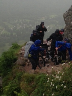 DAY 1:Atrocious weather toiling up Ben Nevis Friday 4th July