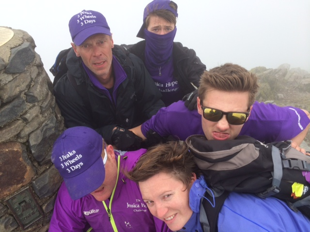 Will, Big Jess, John, Sam and Tom at the summit