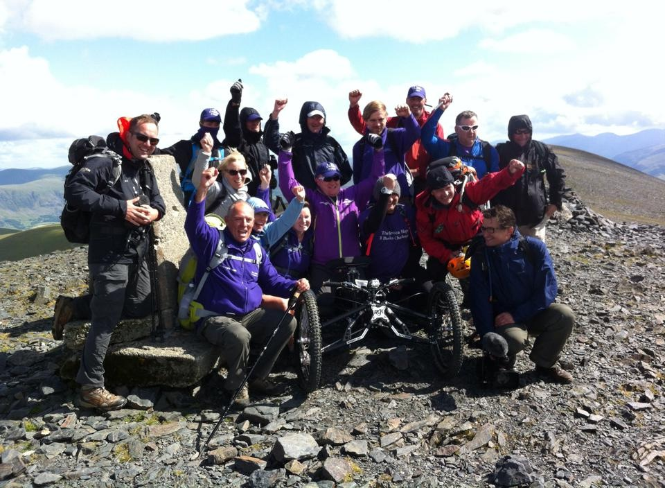 The 3 Peaks team at the summit of Skiidaw!