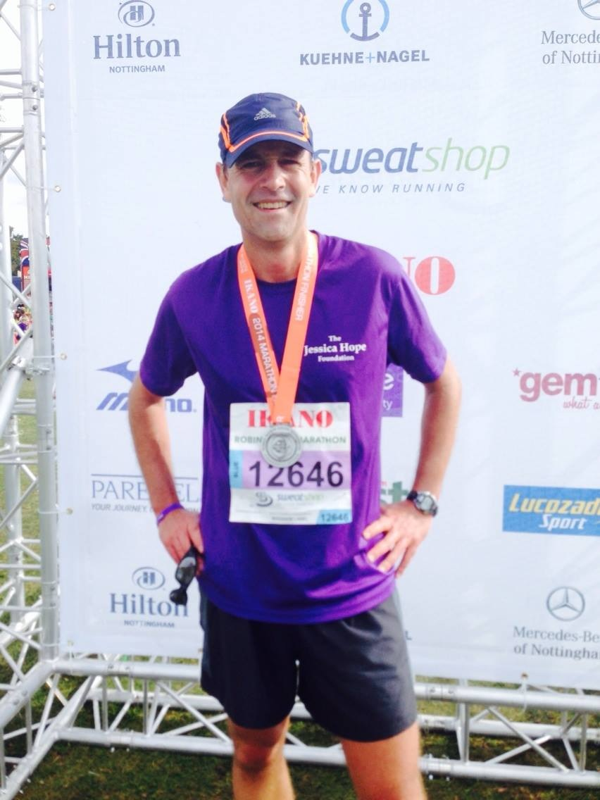 Pieter Pretorius ran the marathon in 3 hours 48 minutes!