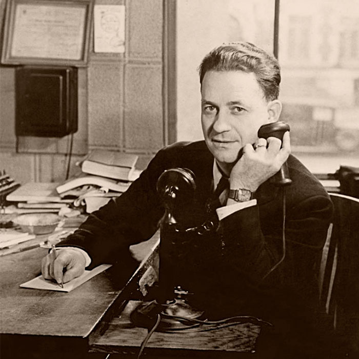 George Brewster, Mark and George Jr. Brewster's great-grandfather, in the dispatch center, circa 1925