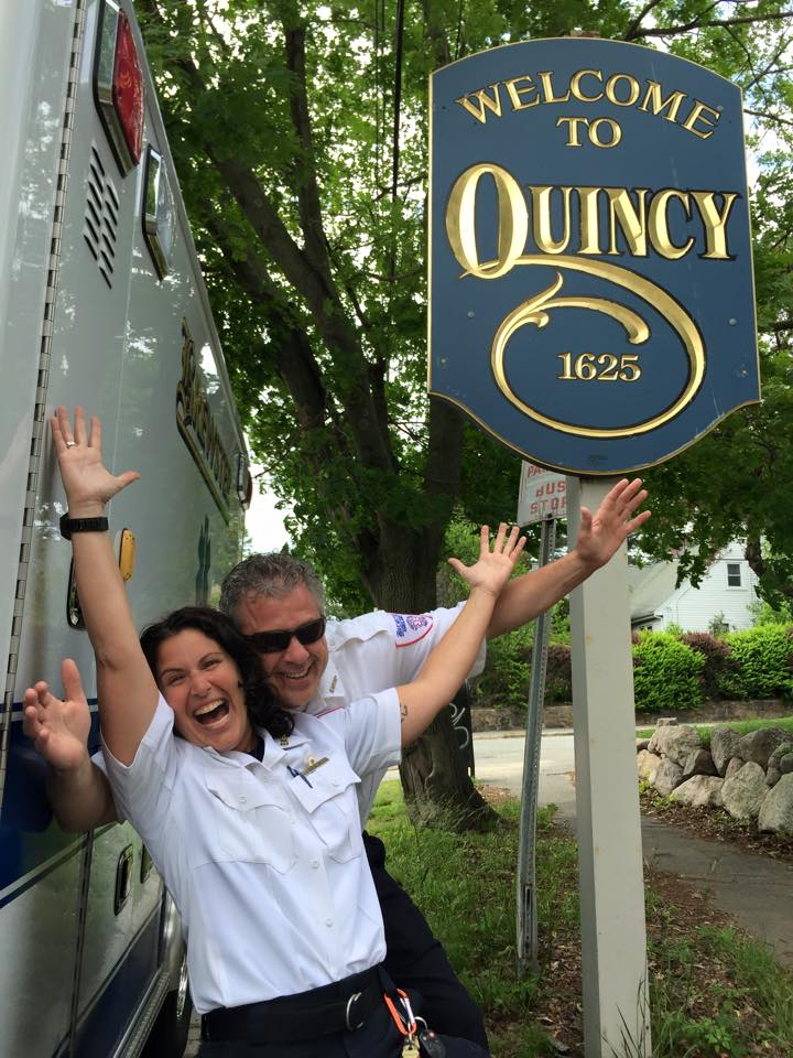 Celebrating the Quincy contract award, 2015, Deb Johnson and Jonathan Oates