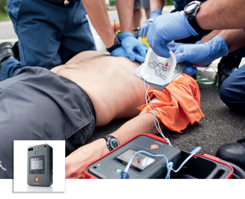 Philips HeartStart FR3 Defibrillator ( click here for PDF brochure ) Images courtesy of Philips.