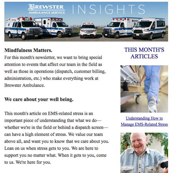 Brewster Ambulance Insights newsletter
