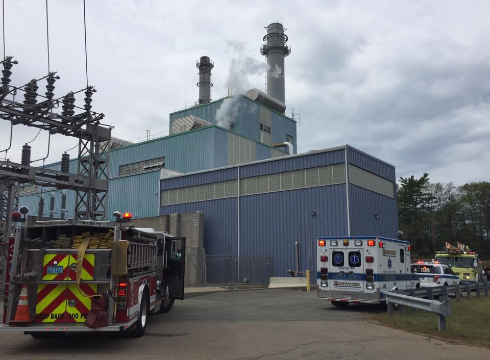Explosion and fire at the Taunton Municipal Lighting Plant