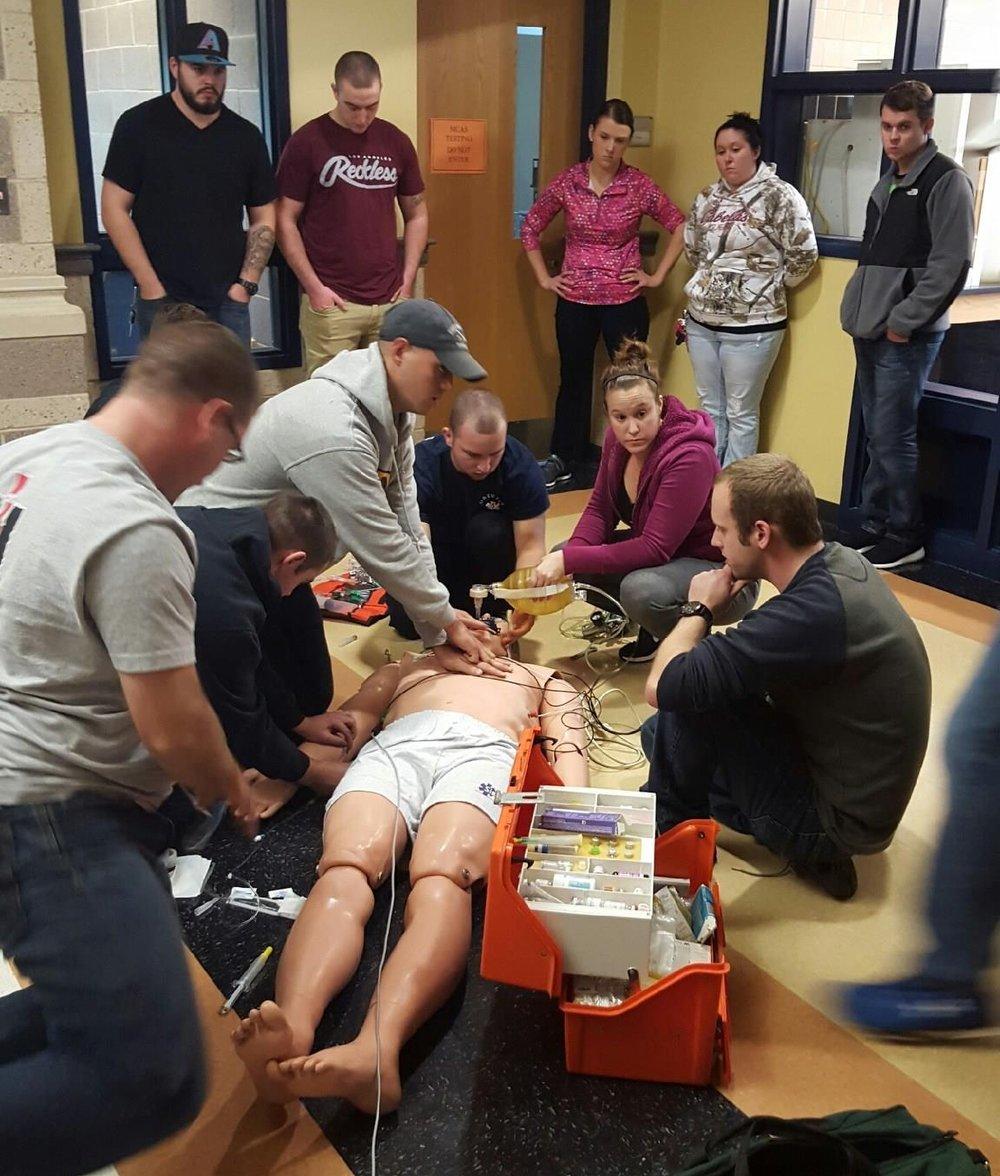 Paramedics and EMTs training