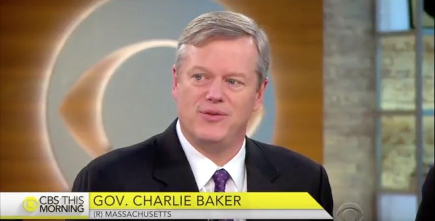 Charlie Baker on CBS This Morning