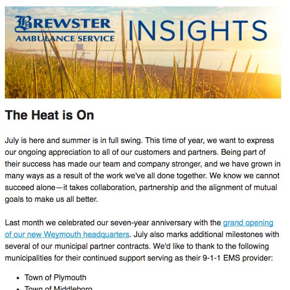 July 2017 Brewster Insights