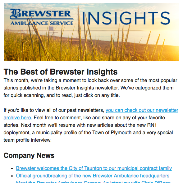 Brewster Insights August newsletter