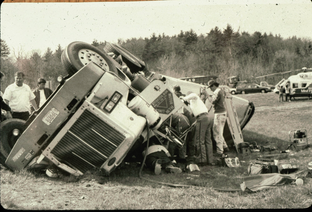 Randolph on Route 24 1991, the wreck that inspired the career