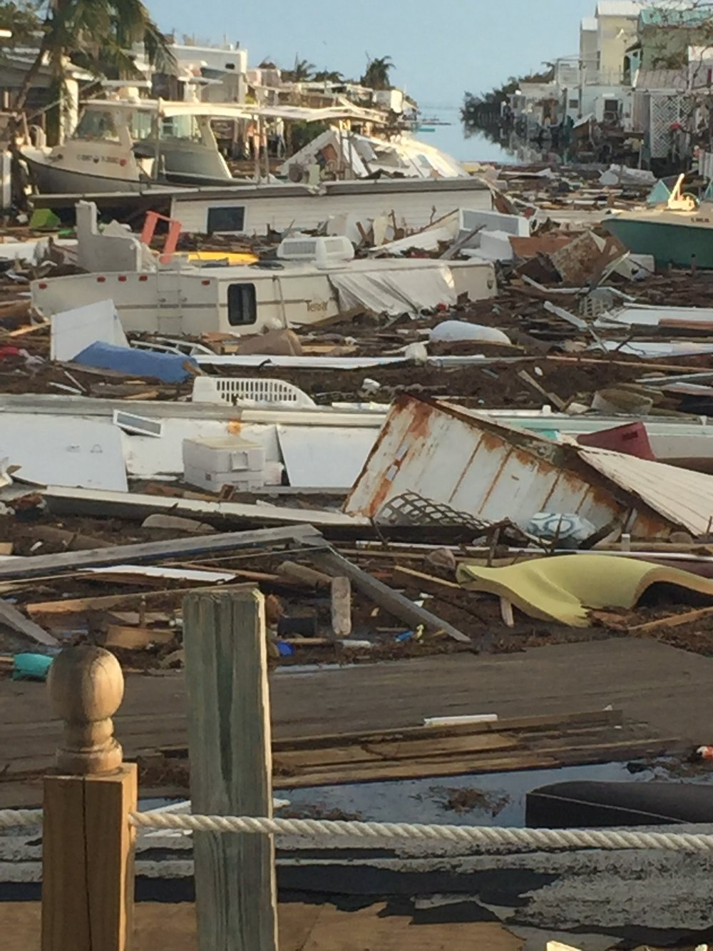 Post-hurricane Irma devastation in the Florida Keys.