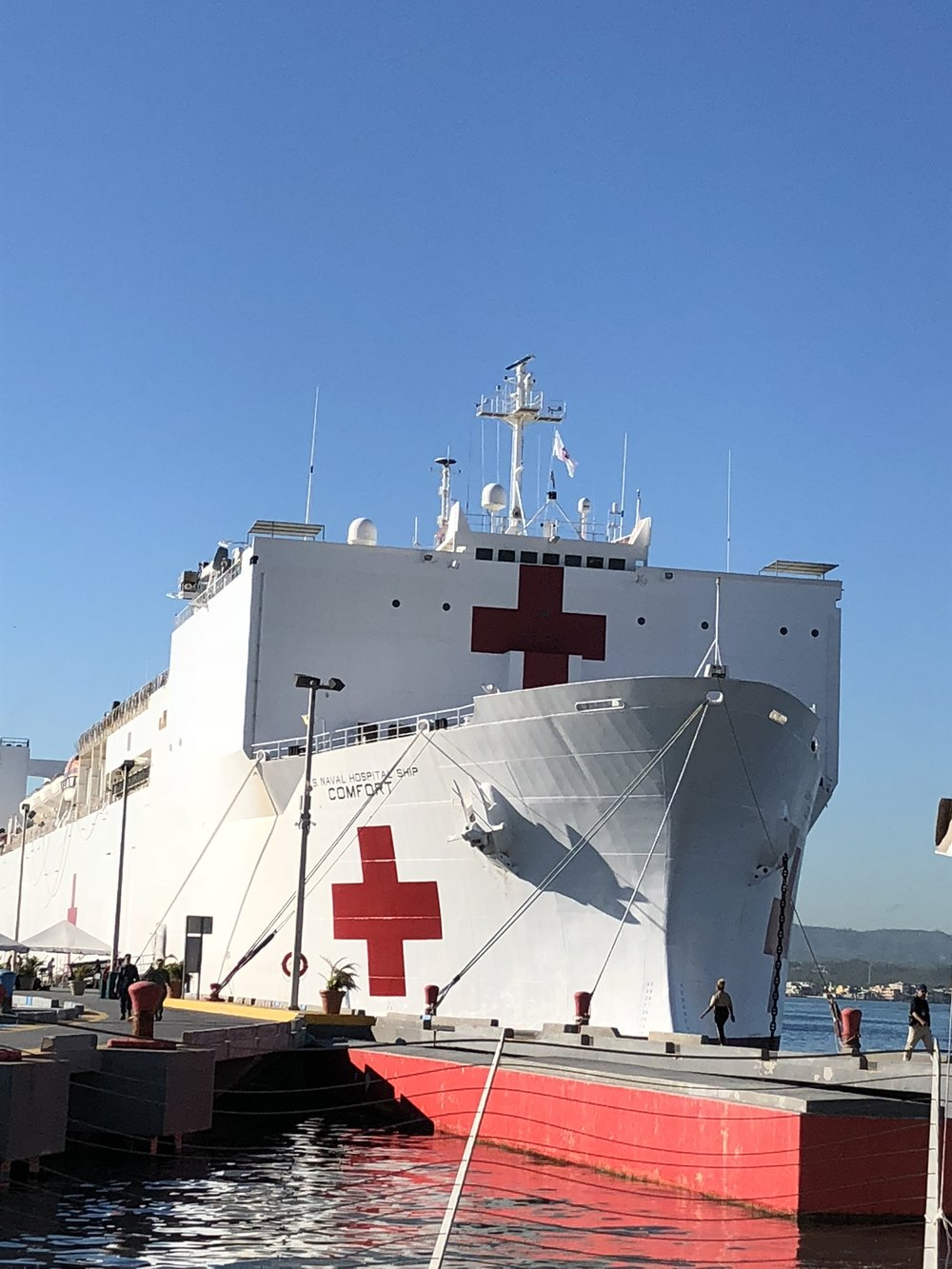 US Naval Hospital Ship Comfort in port, San Juan, PR.