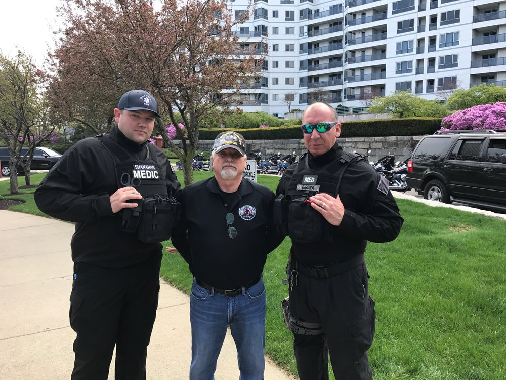 Brewster Ambulance Tactical Paramedics on protection detail with Congressional Medal of Honor recipient James C. McCloughan