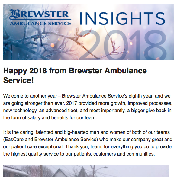 January 2018 Brewster Insights