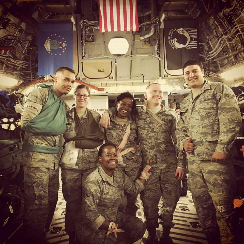 Medevac training mission on board a C17 2015