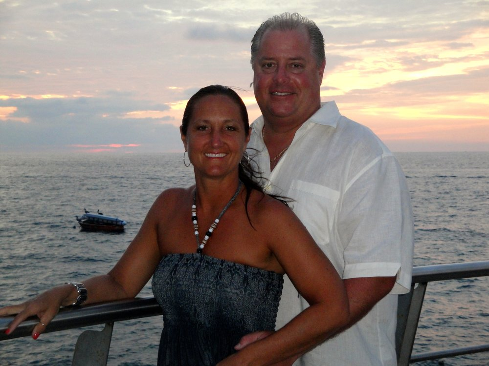 Pete and Dina Zampine on the Brewster sunset cruise