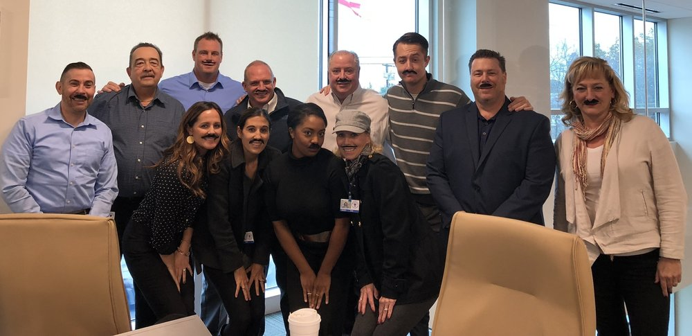 """Business Development team supporting """" Movember """""""
