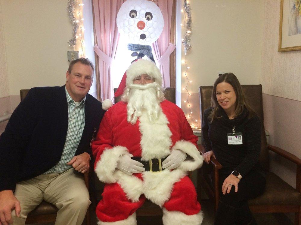 Russ Hochstein, Brewster Santa and Madonna Manor's admissions coordinator