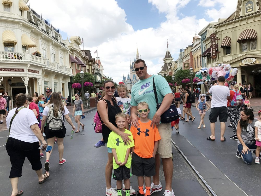 The Hochstein family at Walt Disney World in Orlando, Florida