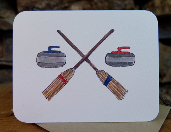 Curling Card by Joanna Close