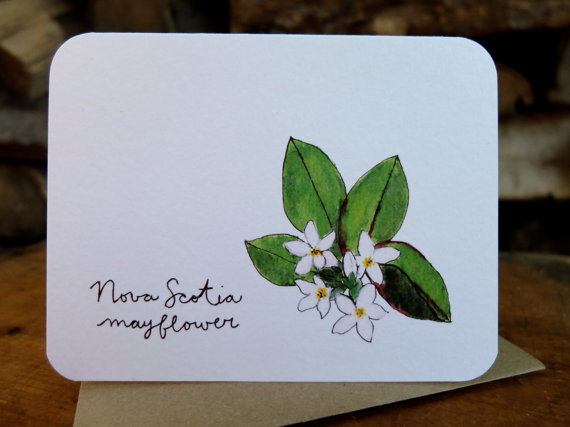 Nova Scotia Mayflower Card by Joanna Close