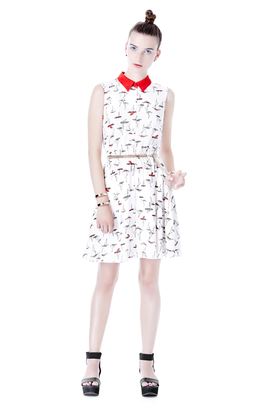 Eve Gravel Red Hat Dress in Red Sailboats, $206