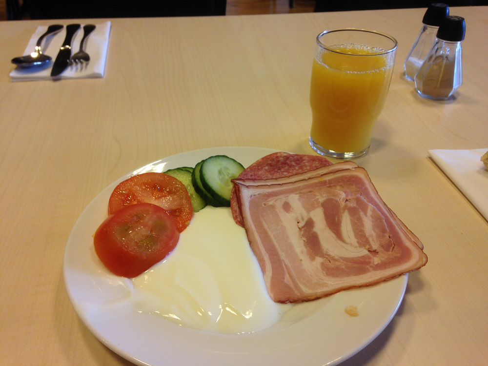A traditional Icelandic breakfast