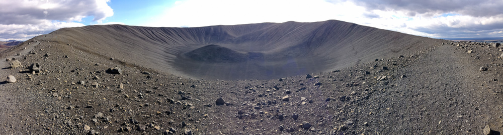 Hverfjall, a volcanic crater near Lake Myvatn