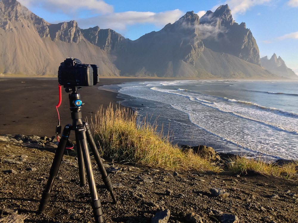 I love this Benro tripod, it's so light yet amazingly sturdy. It folds down small enough to fit in a carry-on too! It's the perfect travel tripod.