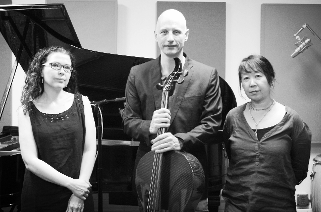 Sylvie Courvoisier - Erik Friedlander - Ikue Mori (photo by Ava Friedlander)
