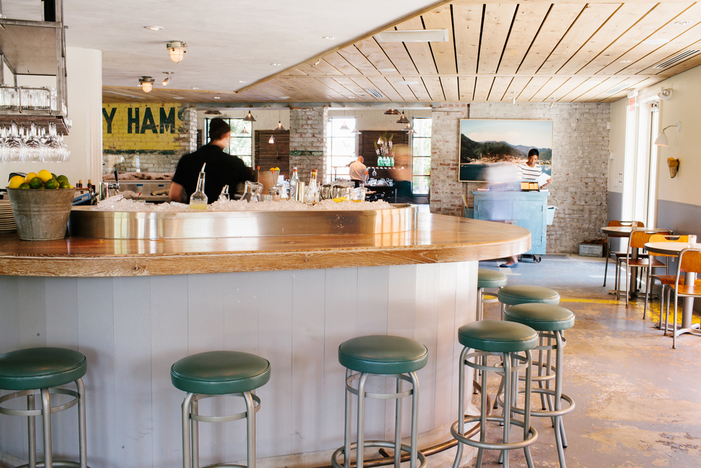 The Oyster bar at The Optimist | Smith Hanes. interior bar seating