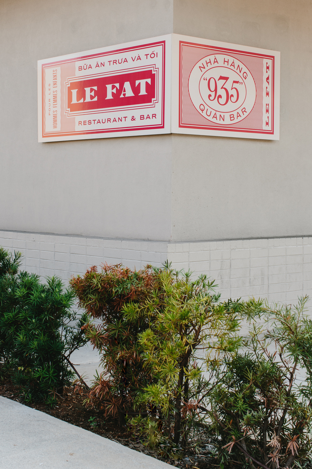 Le Fat | Smith Hanes. restaurant signage