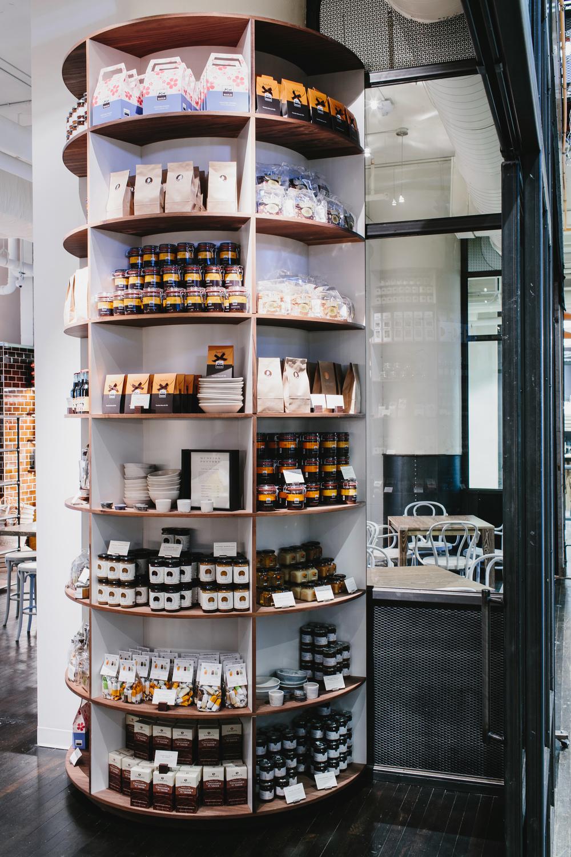 Bellina Alimentari | Smith Hanes. restaurant column shelving