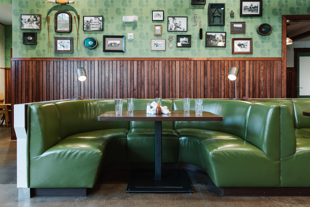 El Felix | Smith Hanes. Hollywood Banquette and Gallery Wall