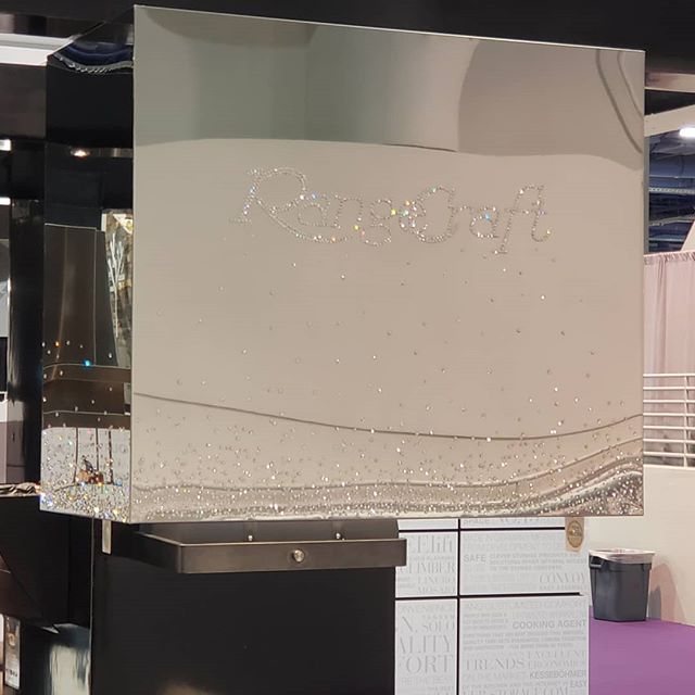 Bedazzling... It's not just for t-shirts anymore. (it's a hood fan)  #kbis2019 #kitchensdesignedforlife #rangecraft