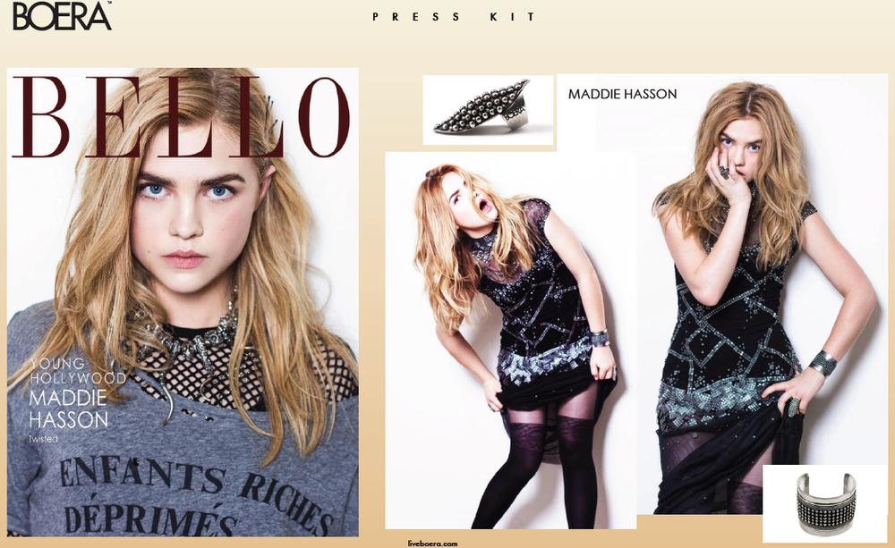 Maddie Hasson in BELLO magazine