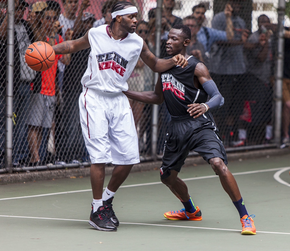 "Streetball legend Aaron ""Problem"" Williams went up against former Seton Hall standout, Jeremy ""The Cab Driver"" Hazell."