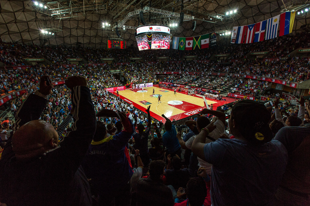 When Venezuela plays, the crowd fills to capacity and rocks the arena.
