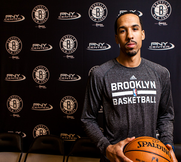 Shaun Livingston at the Brooklyn Nets practice facility in East Rutherford, NJ.