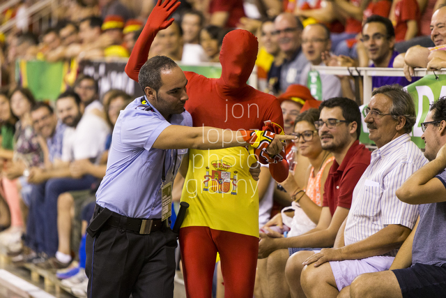 No running in the stands! The energy was incredible for the group phase of the Basketball World Cup in Granada, Spain.