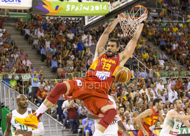 2014 FIBA Basketball World Cup. BRA vs ESP.