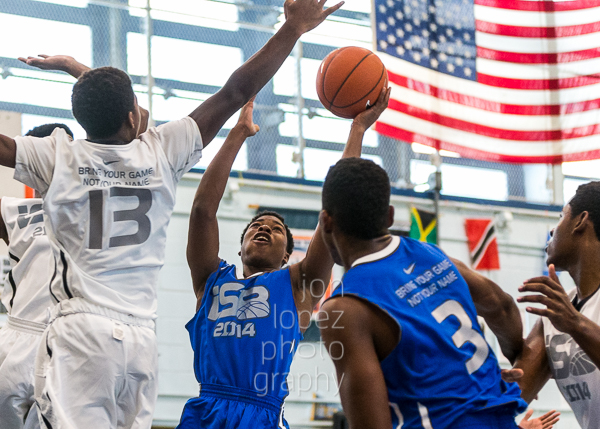othing easy in the paint. The flags in the facility provided a great backdrop.