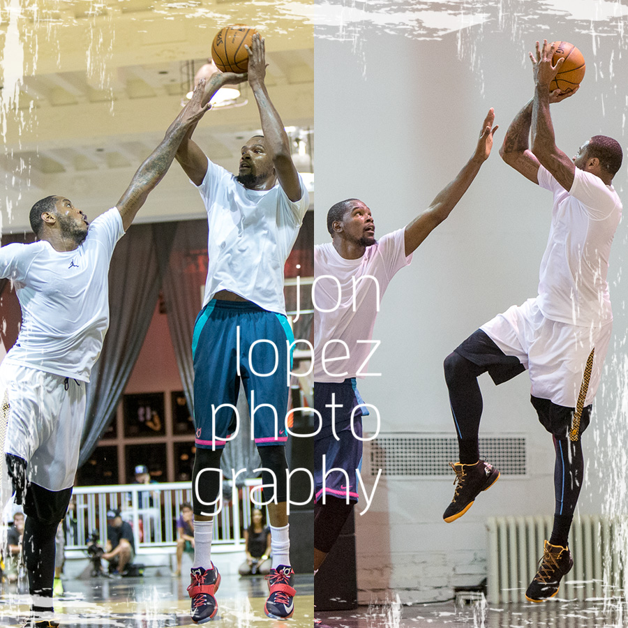 NBA MVP vs NBA scoring champ. This was one of the greatest matchups of 2014 and I was fortunate to be creating my shots fromthe sidelines of the action at Terminal 23.