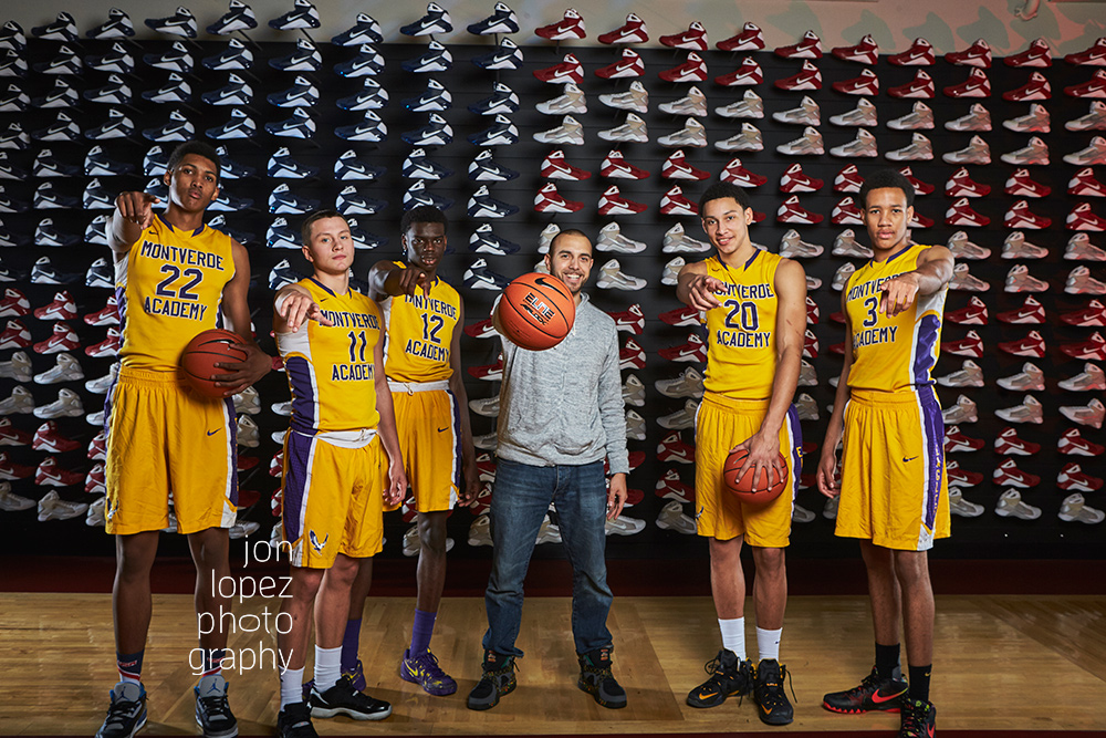 When time allowed, I jumped in frame with some of the elite high school basketball squads who stopped by the  Basketball Hall of Fame  for a portrait session.