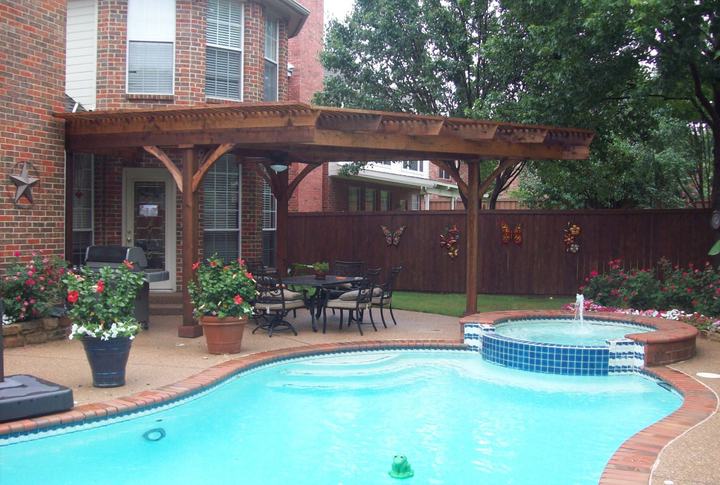 Side View - Uniquely Shaped Pergola - MRZ Contracting Patio Covers - Pergolas - Other Construction